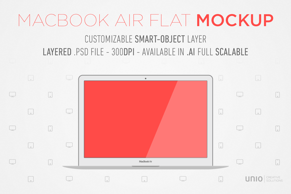 Macbook Air Flat Mockup