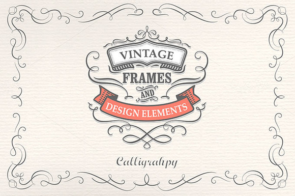 Calligraphy Frames And Elements