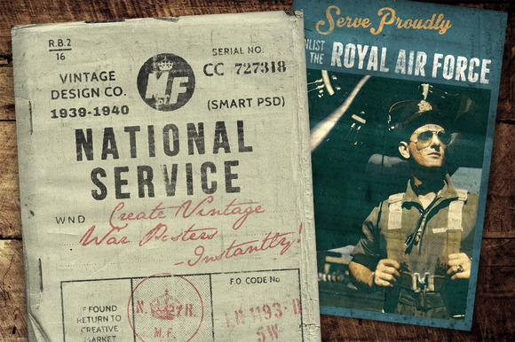 National Service War Posters Kit