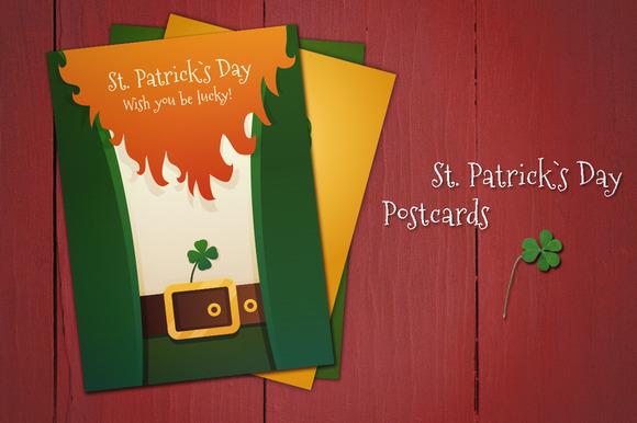 3 Postcards St Patrick`s Day