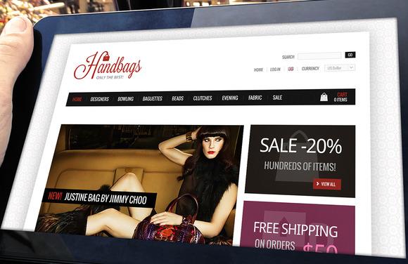 Handbags Store Template