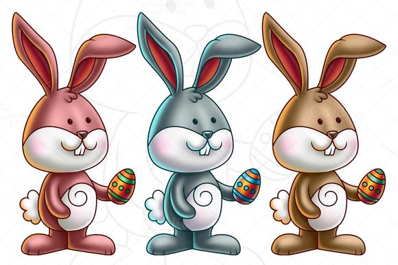 Cute Bunny Holding An Easter Egg