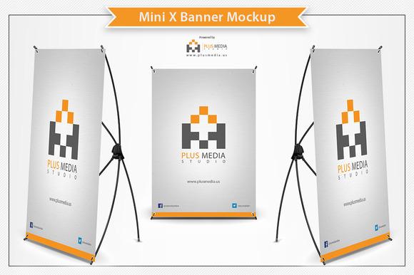 Mini X Banner Mockup