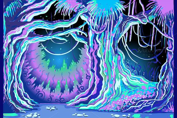 Magic Tale Blacklight Forest