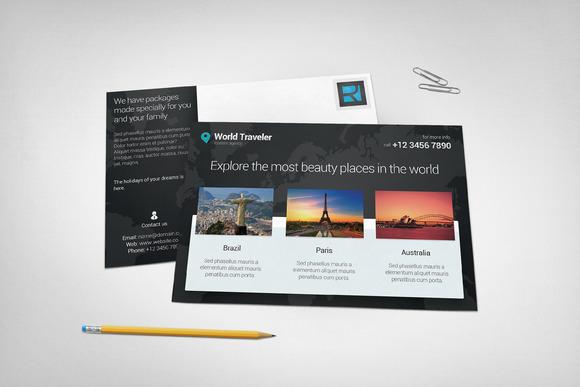 Post Card Mockup #5