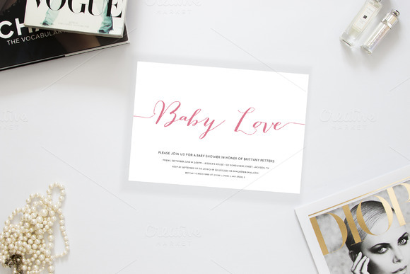 Baby Love Baby Shower Invitation
