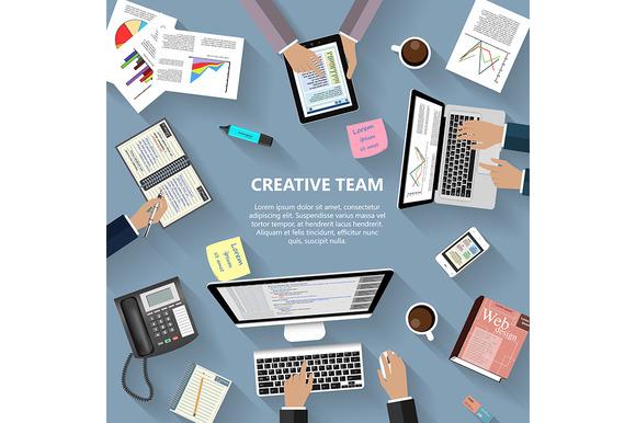 Modern Creative Team Concept