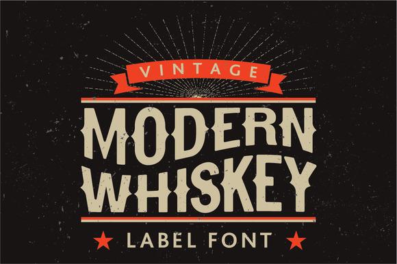 Modern Whiskey Label Font