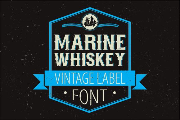 Marine Whiskey Label Font