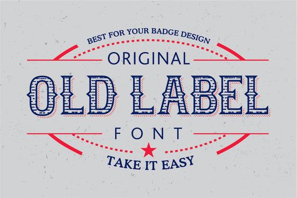 Old Label Font