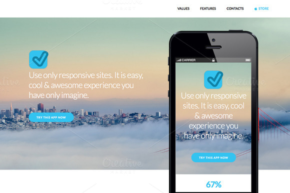 Blue App Website Template