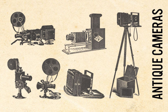 Antique Cameras Transparent Clip Art