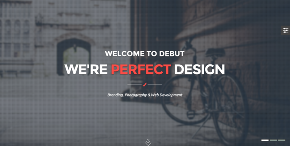 Debut Onepage Parallax Template