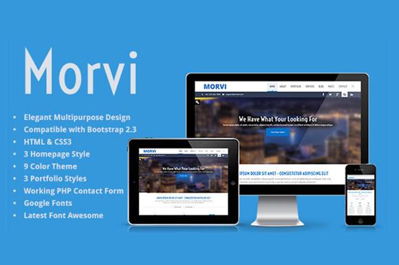 Morvi Bootstrap HTML5 Portfolio