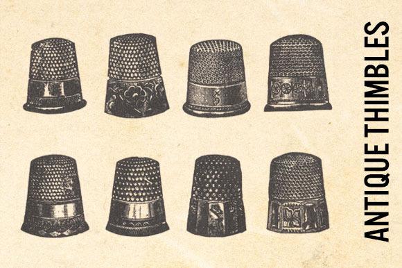 Antique Fashion Sewing Thimbles