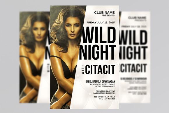 Wild Night Flyer Templates