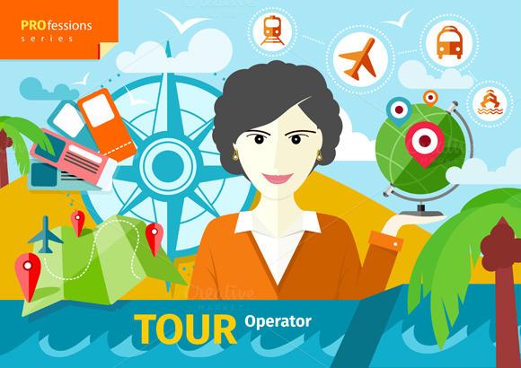 Female Travel Agent Holding Globe