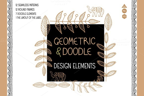 Geometric And Doodle Design Elements