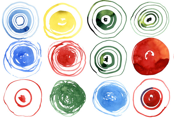 Vector Watercolor Blots