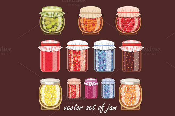 Jars Of Different Shapes And Jam