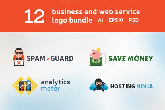 12 Business And Web Logo Bundle