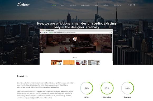 Motive Premium WordPress Theme