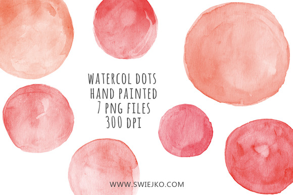 Watercolor Clipart Dots Bubbles