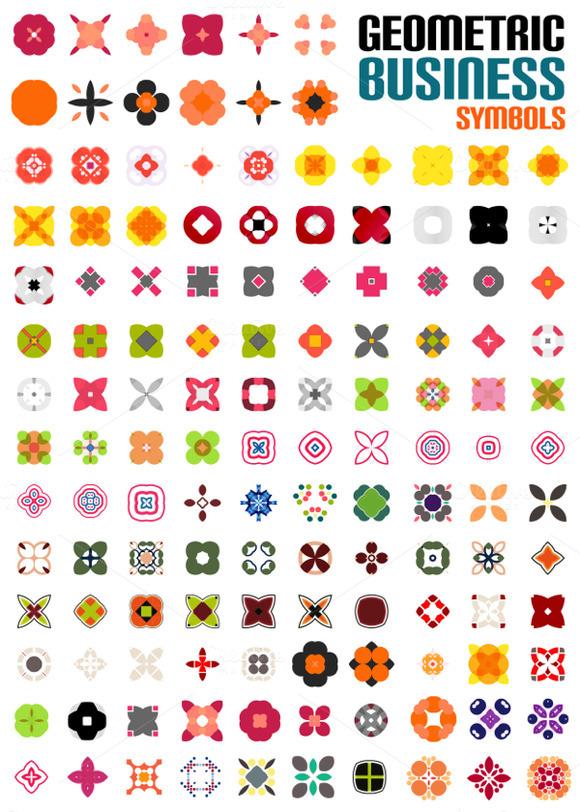 Set Of Colorful Business Symbols