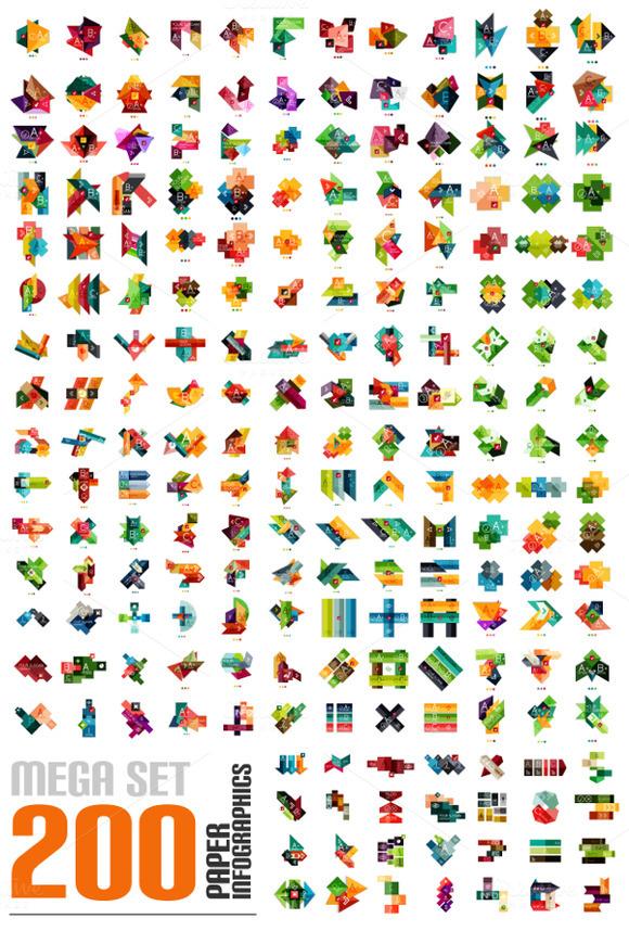 Paper Infographic Mega Set