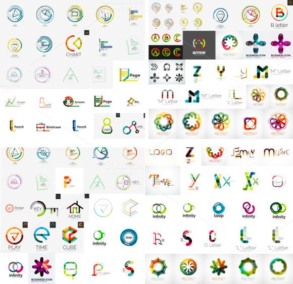 Set Of Modern Vector Logos