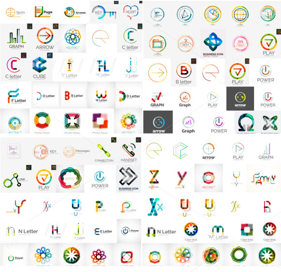 Big Set Of Vector Logos