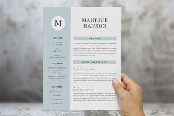3 In 1 Modern 2 Pages Resume