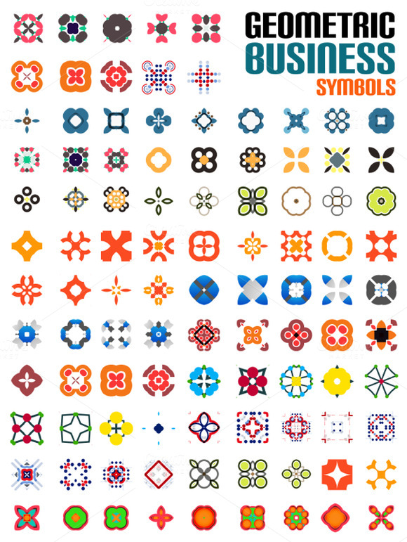 Set Of Abstract Geometrical Symbols