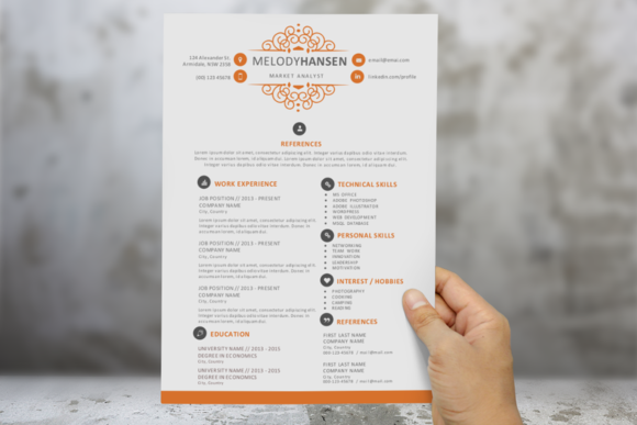2 In 1 Ornament Word Resume