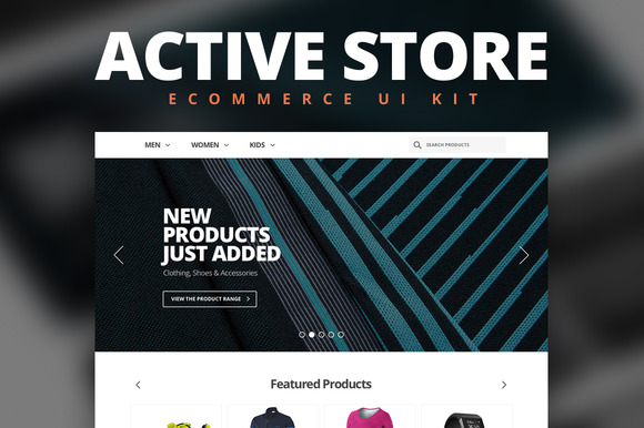 Active Store Ecommerce UI Kit
