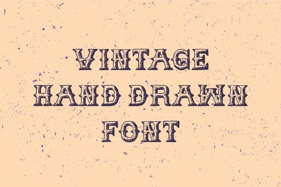 Vintage Hand Drawn Font