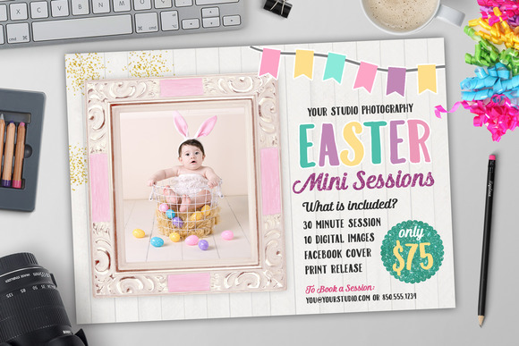 Easter Marketing Photography Templat