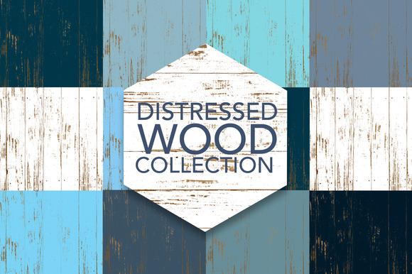 Distressed Wood Digital Patterns