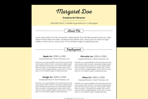 Vintage Resume Letter Template