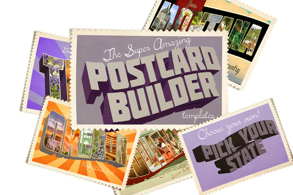 You Pick Vintage Postcard Template