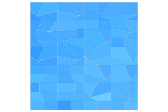 Blue Mosaic Abstract Low Polygon Bac