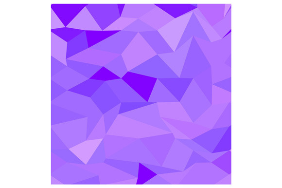 Icebergs Purple Abstract Low Polygon