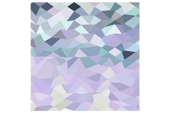 Purple Ranges Abstract Low Polygon B