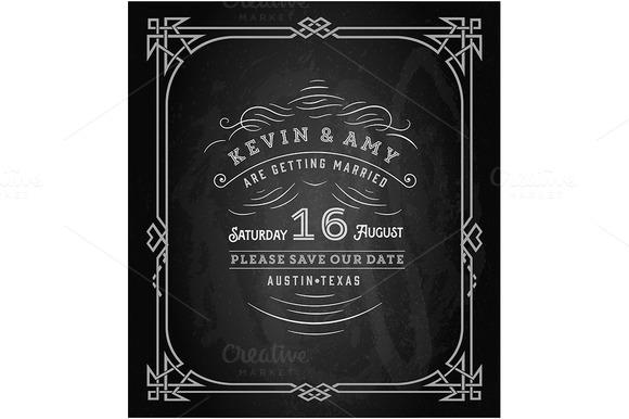 Wedding Invitation Vintage Card