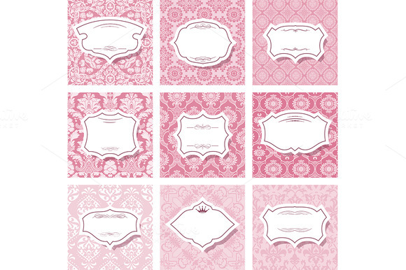 Frame Set On Seamless Patterns
