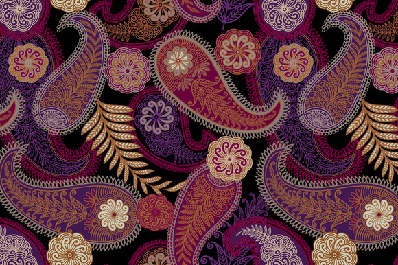 Seamless Paisley Ornament