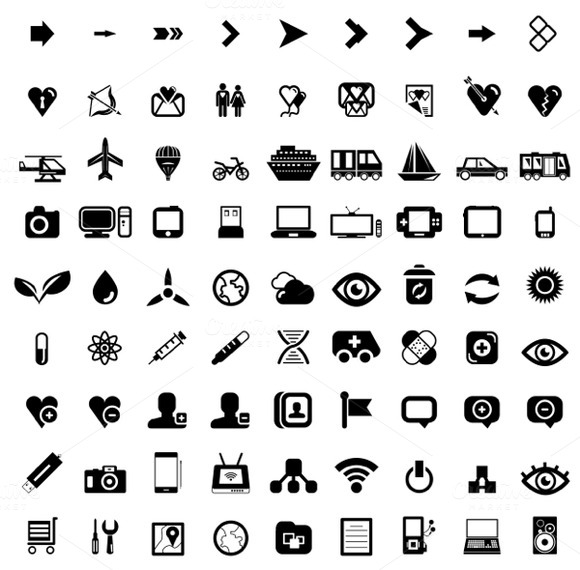 Big Set Of Universal Vector Icons