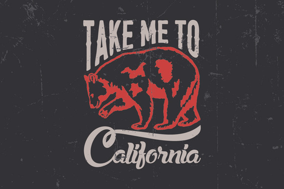 Take Me To California Label
