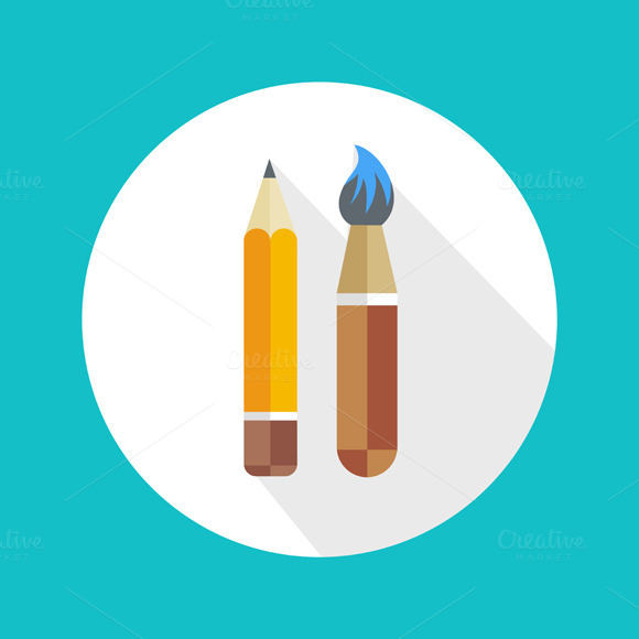 Pen And Brush Icon