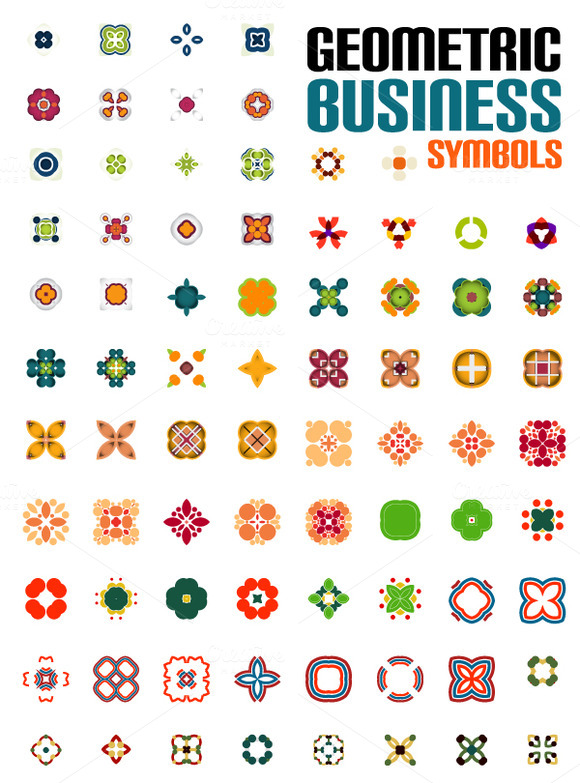 Geometric Business Symbol Collection